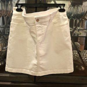 WHBM White Denim Skirt